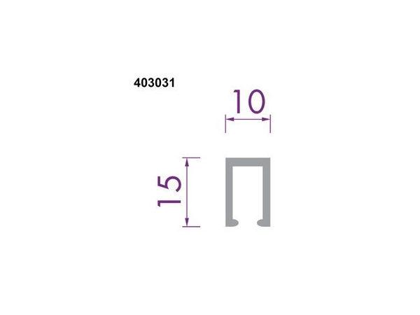 Glaslijst 403031 aluminium