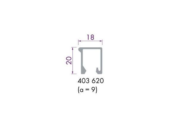 Glaslijst 403620 aluminium