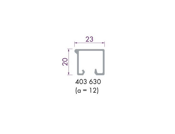 Glaslijst 403630 aluminium