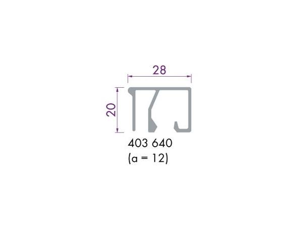 Glaslijst 403640 aluminium