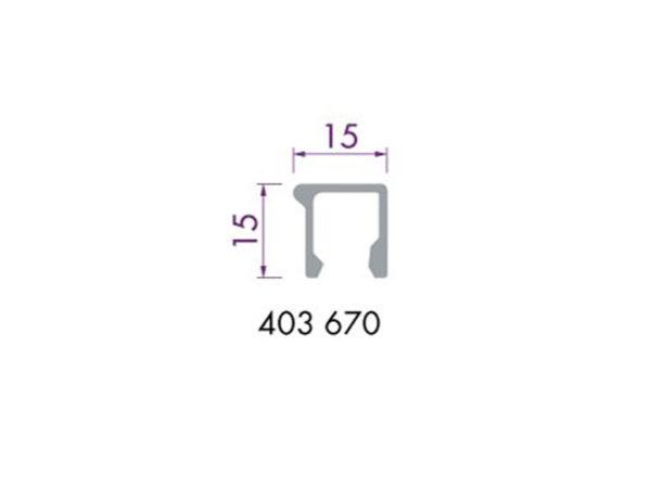 Glaslijst 403670 aluminium